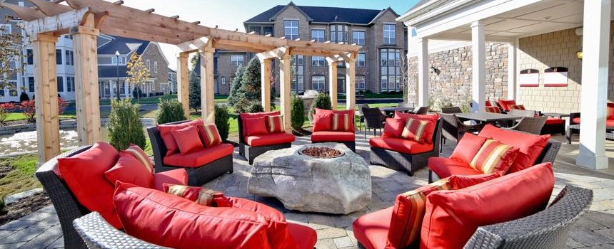 The Hamilton Luxury Apartment Homes in Fishers firepit