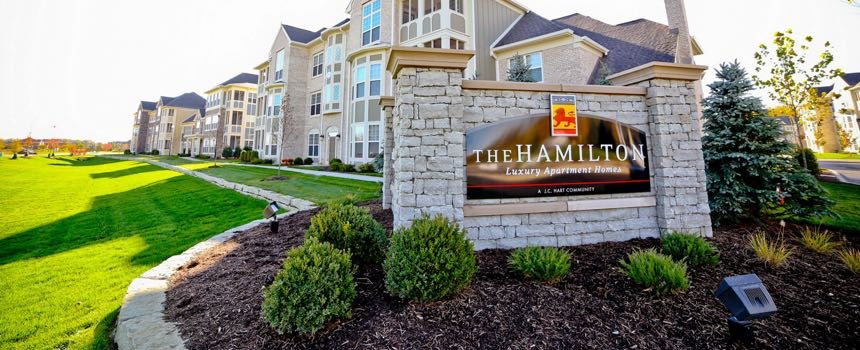 The Hamilton Luxury Apartment Homes in Fishers Entry